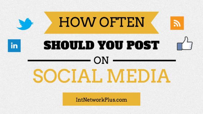 How often should you post on social media: Facebook, Twitter, LinkedIn, Blog and Pinterest. #socialmedia #socialmediatips #socialmediamarketing #smm #socailmediastrategy #creativeentrepreneur