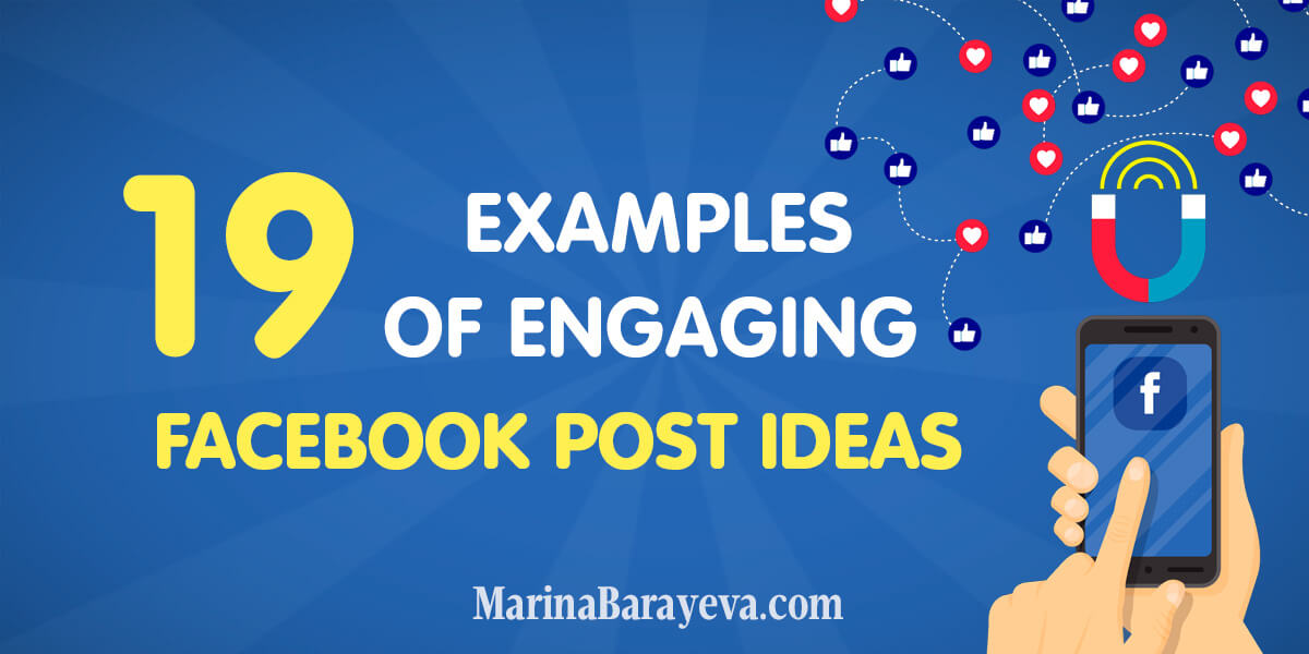 Facebook post ideas examples
