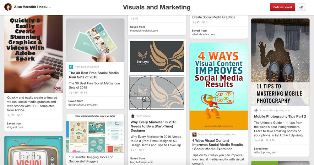 Social Media Marketing Pinterest Boards