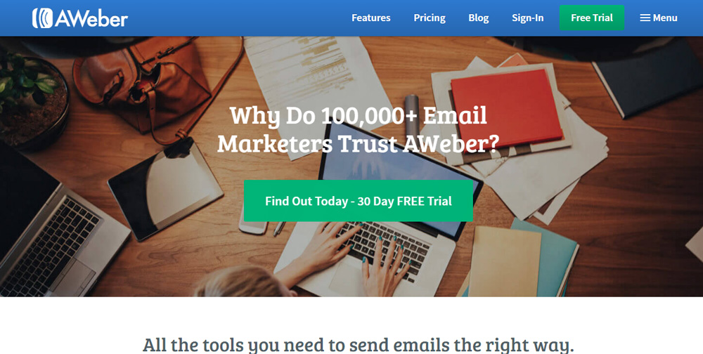 Aweber Marketing tools for small business