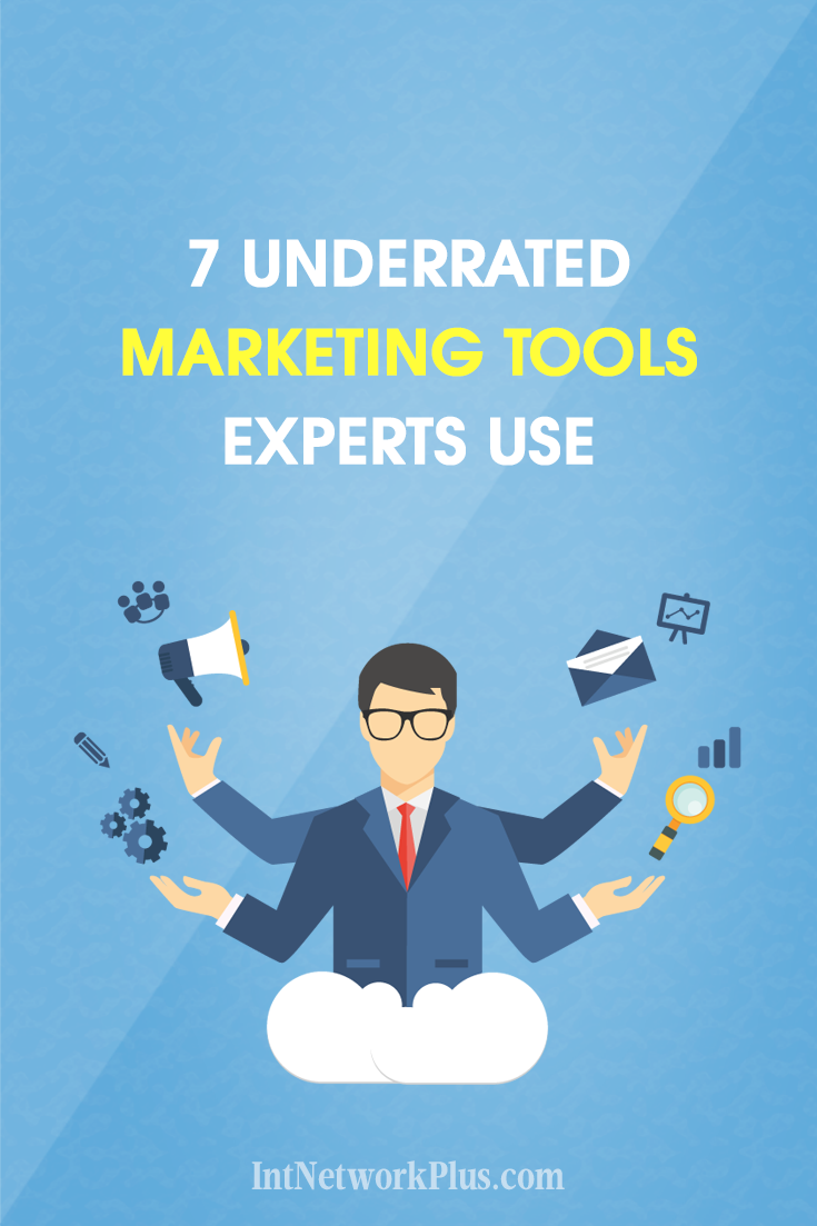 Want to be more productive in marketing? Here are 7 underrated marketing tools for small business that experts use and which will be helpful for you too. #business #smallbusiness #smallbiz #entrepreneur #entrepreneurship #businesstips #marketing #creativeentrepreneur