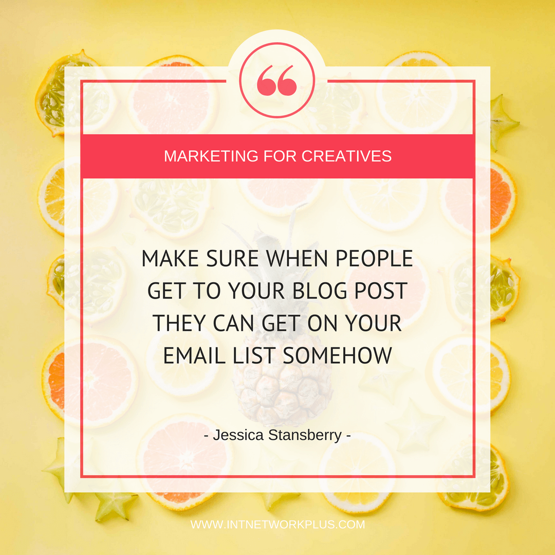 All you need to create a blog strategy that attracts your ideal client and convert them to the paid customers with Jessica Stansberry