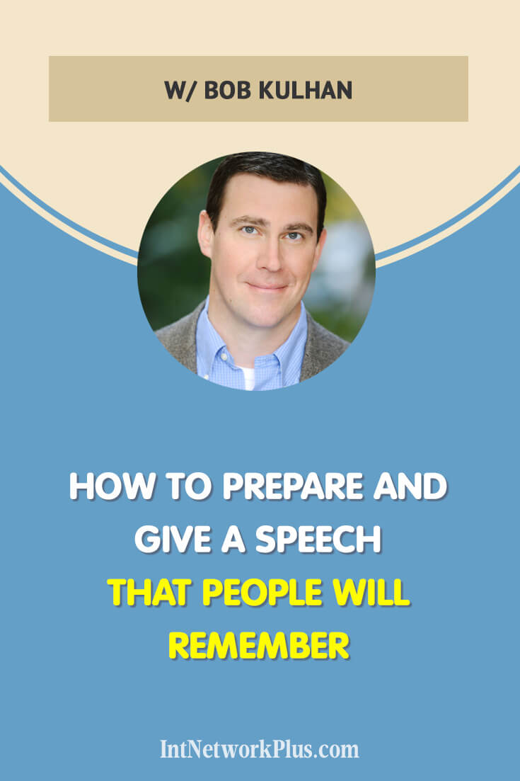 When you know your work and your craft, share it with everyone. Let other people know about you and what you do. Get the tips from the professional public speaker and actor Bob Kulhan on how to prepare and give the speech that people will remember. Via @MarinaBarayeva #business #smallbusiness #smallbiz #entrepreneur #entrepreneurship #businesstips #marketing #creativeentrepreneur #creativebusiness #mompreneur #womaninbiz #ladyboss