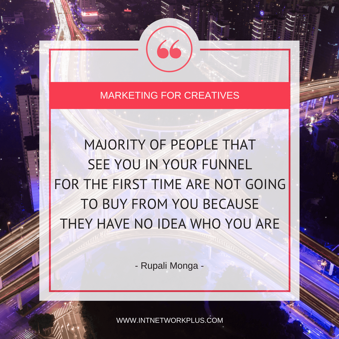 Create a simple sales funnel to attract clients online with Rupali Monga. The perfect option if you have networking