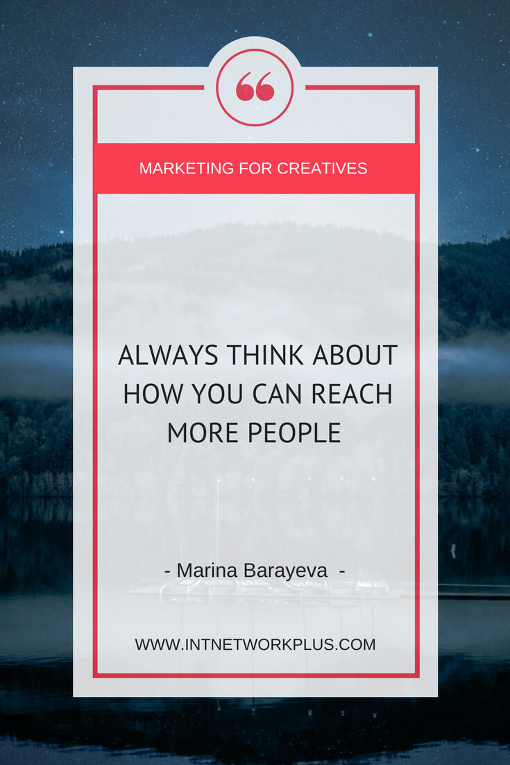 Personal projects are the most exciting ways of marketing your business because first, you pick something that you really want or like doing, and then you make it outstanding with @MarinaBarayeva. #business #smallbusiness #smallbiz #entrepreneur #entrepreneurship #businesstips #marketing#creativeentrepreneur #creativebusiness #mompreneur #womaninbiz #ladyboss