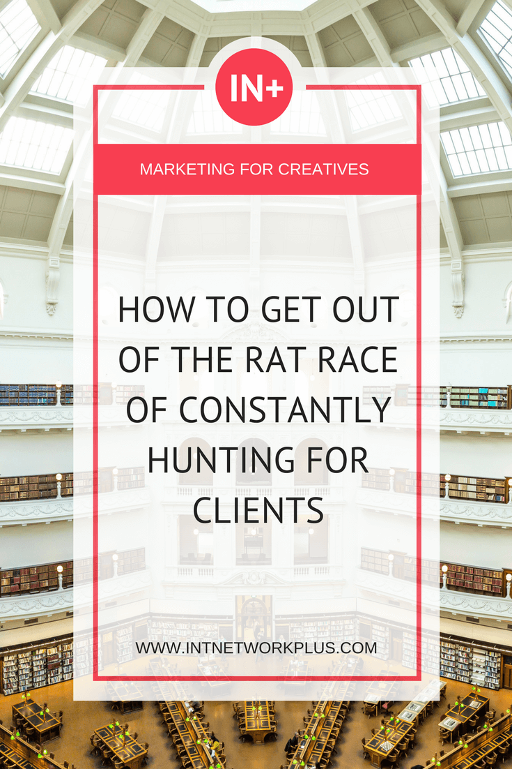 You know that feeling when you were connecting with the client, you delivered your service, got the payment and everything starts all over. Keeping yourself busy 24 hours 7 days a week. Never ending process of chasing clients. This is how you can get out of the rat race of constantly hunting for clients, via @MarinaBarayeva. #business #smallbusiness #smallbiz #entrepreneur #entrepreneurship #businesstips #marketing #creativeentrepreneur #creativebusiness #mompreneur #womaninbiz