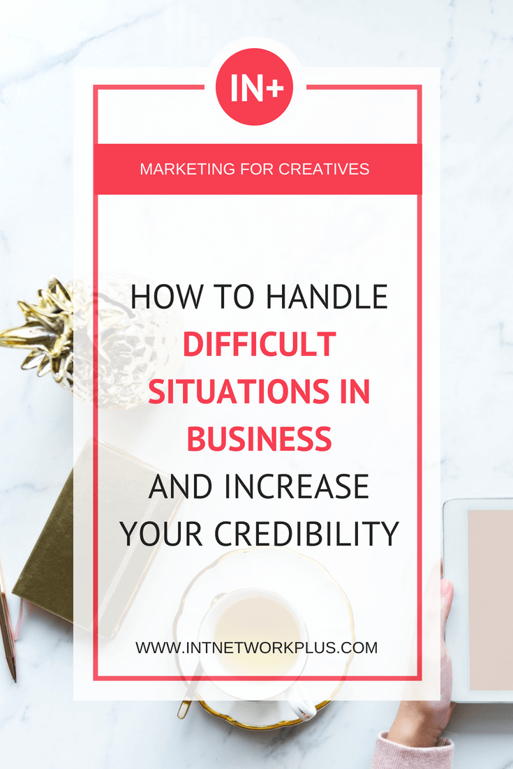To be an entrepreneur is challenging. Anything can happen. From the small things such as when clients cancel the appointment or you got sick and out of the business for some time to the really big problems. Check these tips on how to prevent and handle difficult situations in business and increase your credibility.  #business #smallbusiness #smallbiz #entrepreneur #entrepreneurship #businesstips #marketing #creativeentrepreneur #creativebusiness #mompreneur #womaninbiz #ladyboss