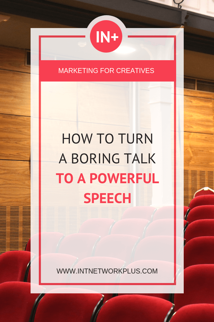 Learn how to turn a boring talkto a powerful speech that helps your small business. You will know how to start and finish the speech, how to make it more interesting and engaged for the audience and tips on selling during the speech, via @MarinaBarayeva. #speaking #business #smallbusiness #smallbiz #entrepreneur #entrepreneurship #businesstips #marketing#creativeentrepreneur #creativebusiness #mompreneur #womaninbiz #ladyboss