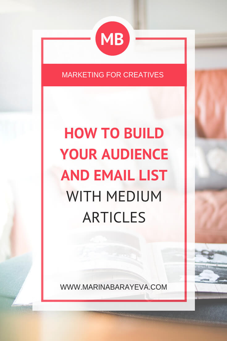 Learn how to build your audience and email list with Medium articles. Medium.com is the platform similar to your blog, but it has many other publishers where you can submit your posts. Also, you can publish articles that you wrote on other sites. Writing on Medium will help faster grow your audience. Via @MarinaBarayeva. #business #smallbusiness #smallbiz #entrepreneur #entrepreneurship #businesstips #marketing #creativeentrepreneur #creativebusiness #mompreneur #womaninbiz #ladyboss