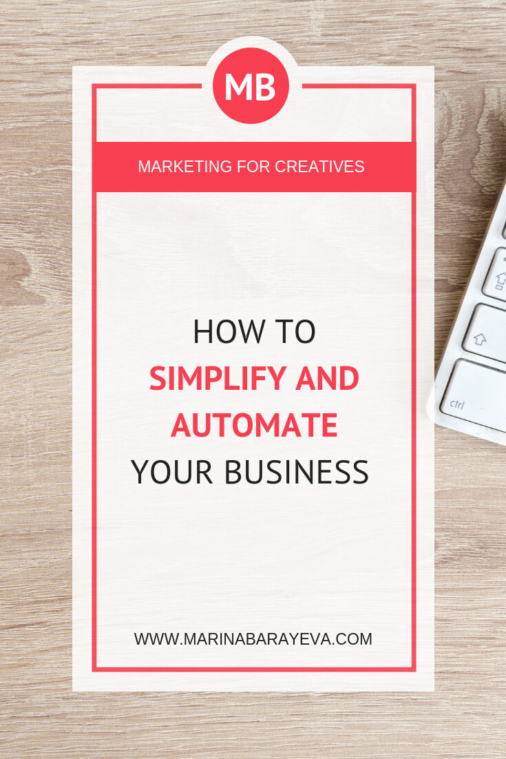 Having a business is a challenge as you need to do a lot of different work as an entrepreneur. Let's make your business processes more effective by simplifying it. Once you've done that, you can automate your business in many areas, via @MarinaBarayeva. #business #smallbusiness #smallbiz #entrepreneur #entrepreneurship #businesstips #marketing#creativeentrepreneur #creativebusiness #mompreneur #womaninbiz #ladyboss