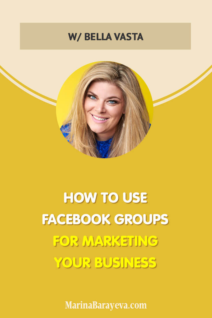 Learn how to use Facebook groups for marketing your business. You will know how to start a Facebook group for business, grow it, and use it for selling your stuff. Facebook groups are a great way to build the community and more personal conversations. Via @MarinaBarayeva. #business #smallbusiness #smallbiz #entrepreneur #entrepreneurship #businesstips #marketing#creativeentrepreneur #creativebusiness #mompreneur #womaninbiz #ladyboss