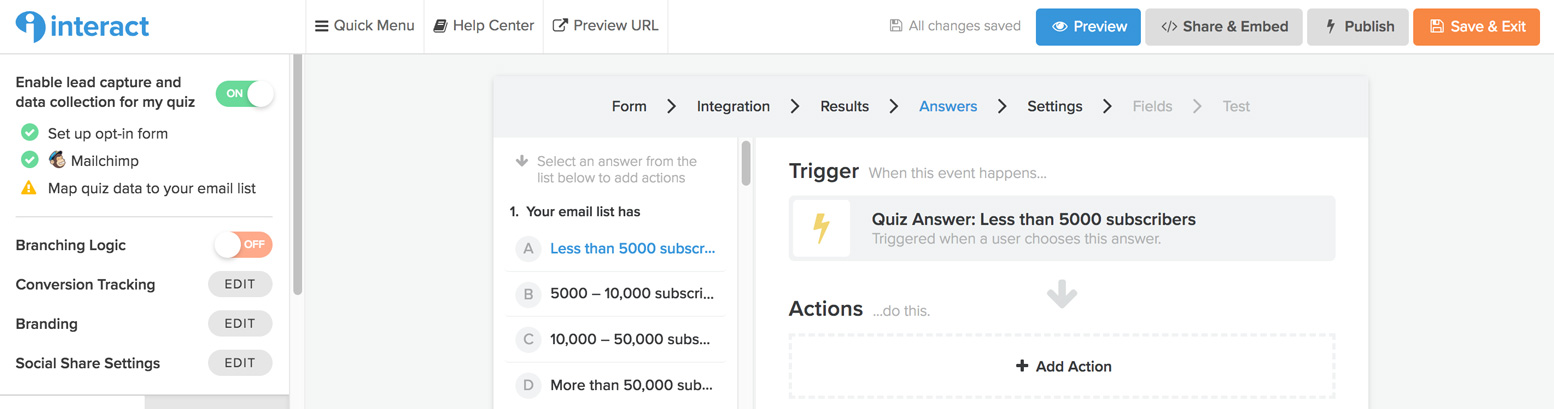 How to Use Interact Quiz to Grow Your Email List