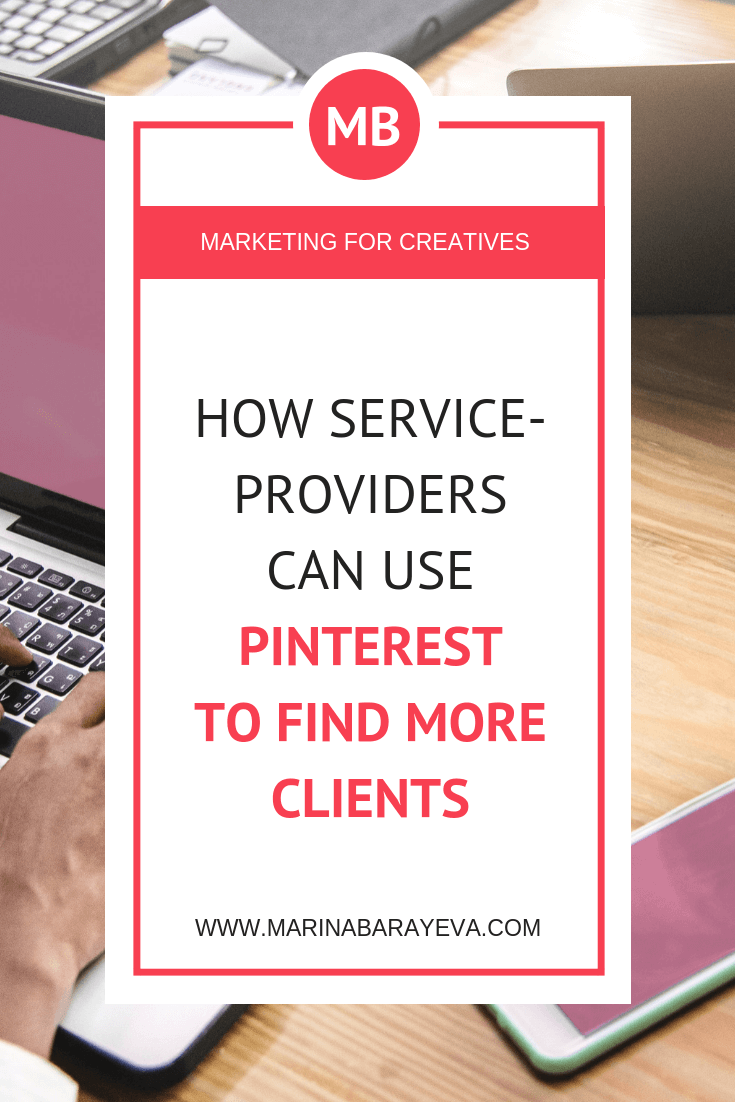 If you provide any kinds of services then you probably still didn't take Pinterest seriously as a marketing tool. You will know how to leverage the visuals on Pinterest to drive traffic to your website or landing pages and convert people to the clients, via @MarinaBarayeva.#pinterest #socialmedia #smm #business #smallbusiness #smallbiz #entrepreneur #entrepreneurship #businesstips #marketing #creativeentrepreneur #creativebusiness #mompreneur #womaninbiz #ladyboss