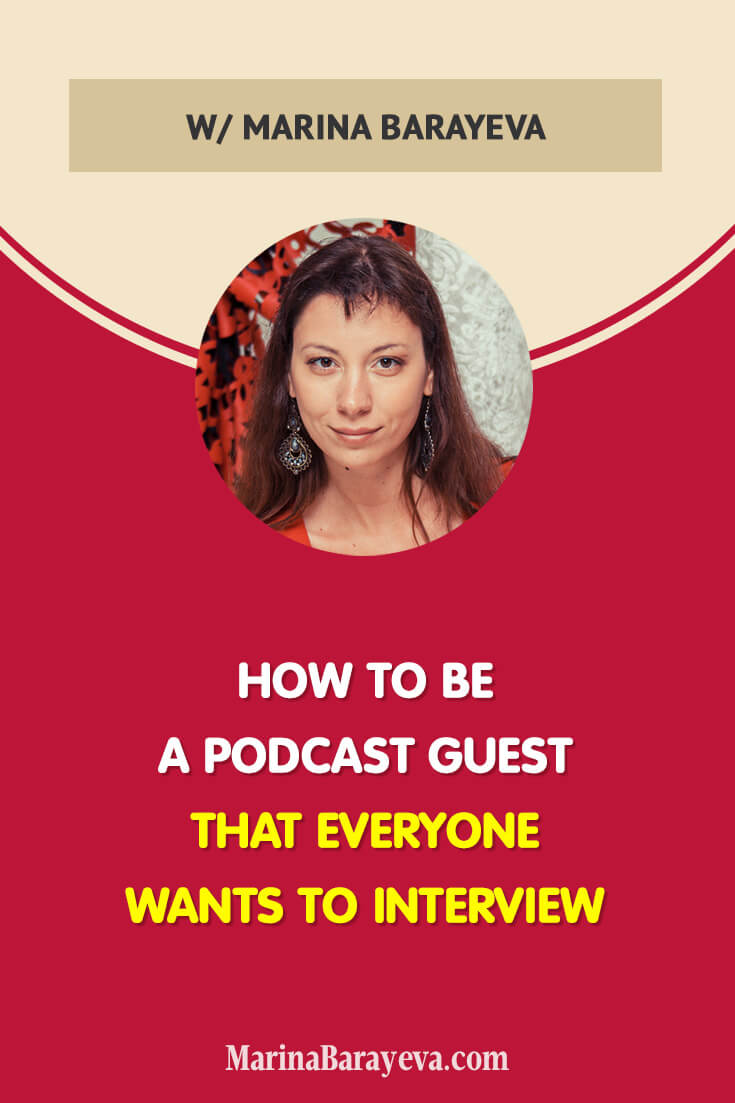 It is quite easy to become a podcast guest if you know how. Learn the tactics that will set you above many other experts, discover six places to quickly find the right podcasts. Then, pitch the hosts and have a big chance to be accepted. Become a podcast guest that everyone wants to interview, via @MarinaBarayeva. #podcast #podcasttips #podcasting #podcaster #podcasters #podcastlife #podcastnetwork #business #smallbusiness #smallbiz #entrepreneur #businesstips #mompreneur #ladyboss