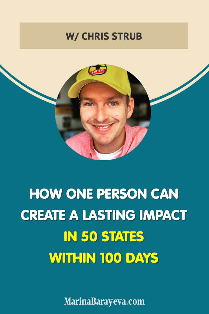 One person can create a lasting impact in 50 States within 100 Days. Learn how you can do that too. How is it to leave everything and go for an adventure across the country? Challenging, unpredictable, and exciting! (via @MarinaBarayeva) #business #smallbusiness #smallbiz #entrepreneur #entrepreneurship #businesstips #marketing #creativeentrepreneur #creativebusiness #mompreneur #womaninbiz #ladyboss