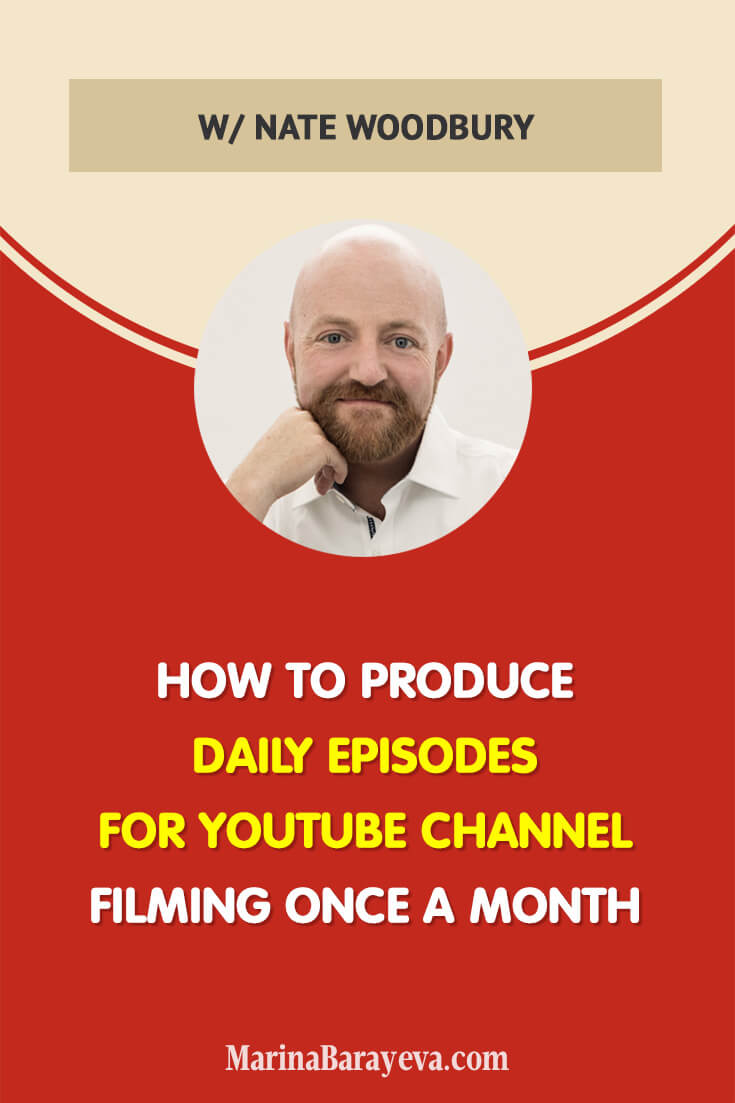 Learn how to produce a daily YouTube channel by filming once a month. You will know how to plan quality content in advance, how 6-7 words key phrases will help you grow your YouTube channel, and how to film all your episodes in one day, via @MarinaBarayeva. #youtubetips #youtubemarketing #business #smallbusiness #smallbiz #entrepreneur #entrepreneurship #businesstips #marketing #creativeentrepreneur #creativebusiness #mompreneur #womaninbiz #ladyboss