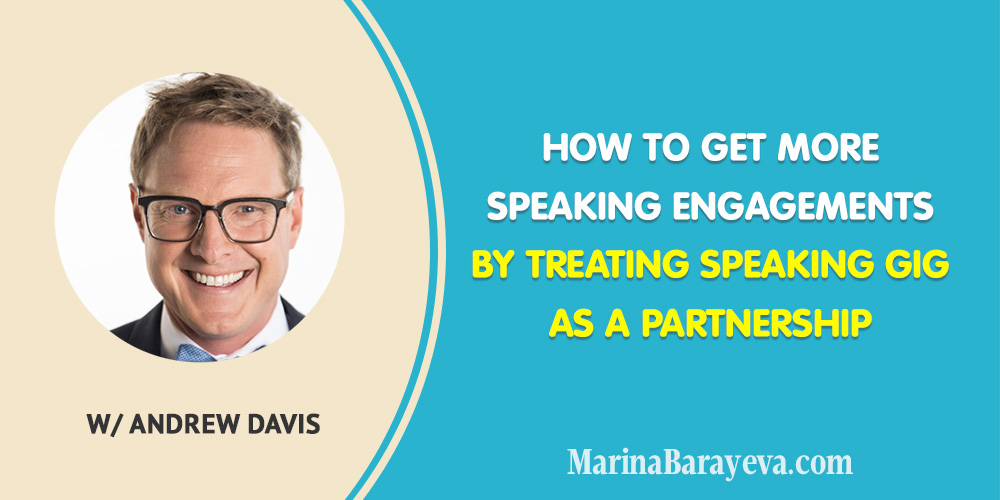 Learn how to get more speaking engagements by treating speaking gigs as a partnership. You will know what makes a good speech that resonates with an audience, how to collaborate with event organizers and other speakers and get recommended to speak on other events, via @MarinaBarayeva. #publicspeaking #personalbrand #personalbranding #business #smallbusiness #smallbiz #entrepreneur #entrepreneurship #businesstips #marketing #mompreneur #ladyboss