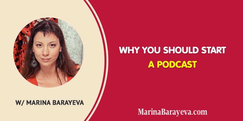 Here is why you should start a podcast. Hosting a podcast was one of the best things for the last few years. Besides many interesting people you meet it opens up new opportunities for growing your business. #business #smallbusiness #entrepreneur #entrepreneurship #speakingtips #marketing #mompreneur #ladyboss
